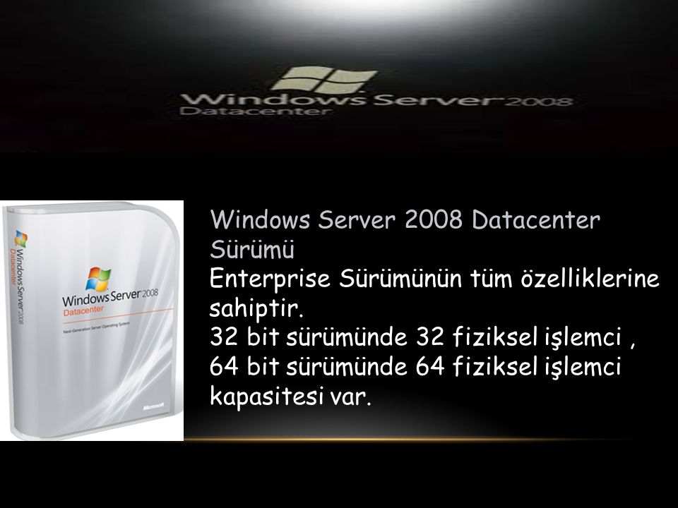 Windows Server 2008 Datacenter Sürümü