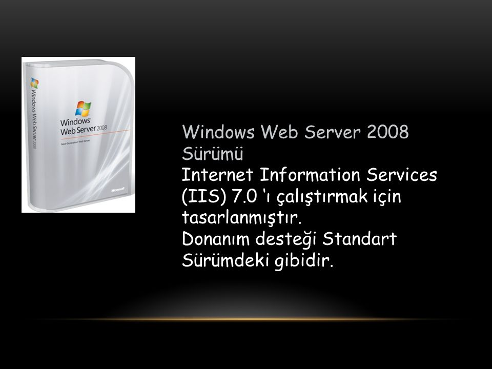 Windows Web Server 2008 Sürümü