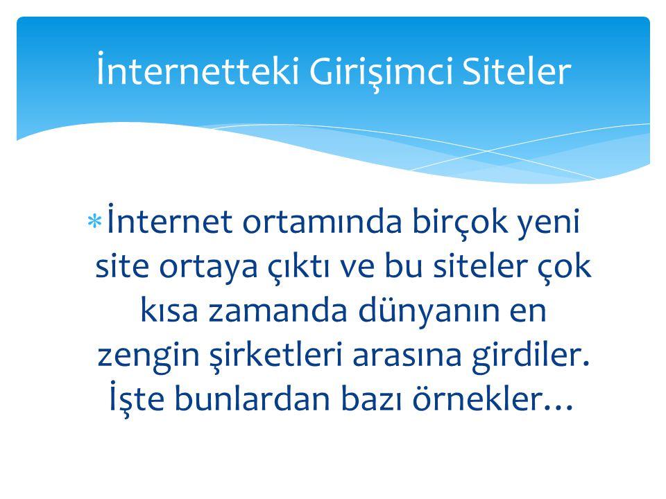 İnternetteki Girişimci Siteler