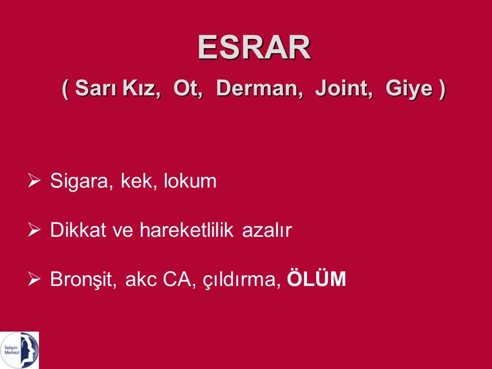 ESRAR ( Sarı Kız, Ot, Derman, Joint, Giye )