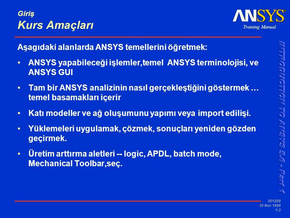 Aşagıdaki alanlarda ANSYS temellerini öğretmek: