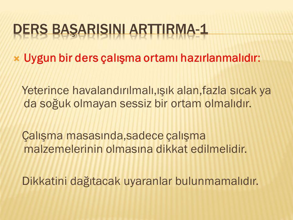 DERS BAŞARISINI ARTTIRMA-1