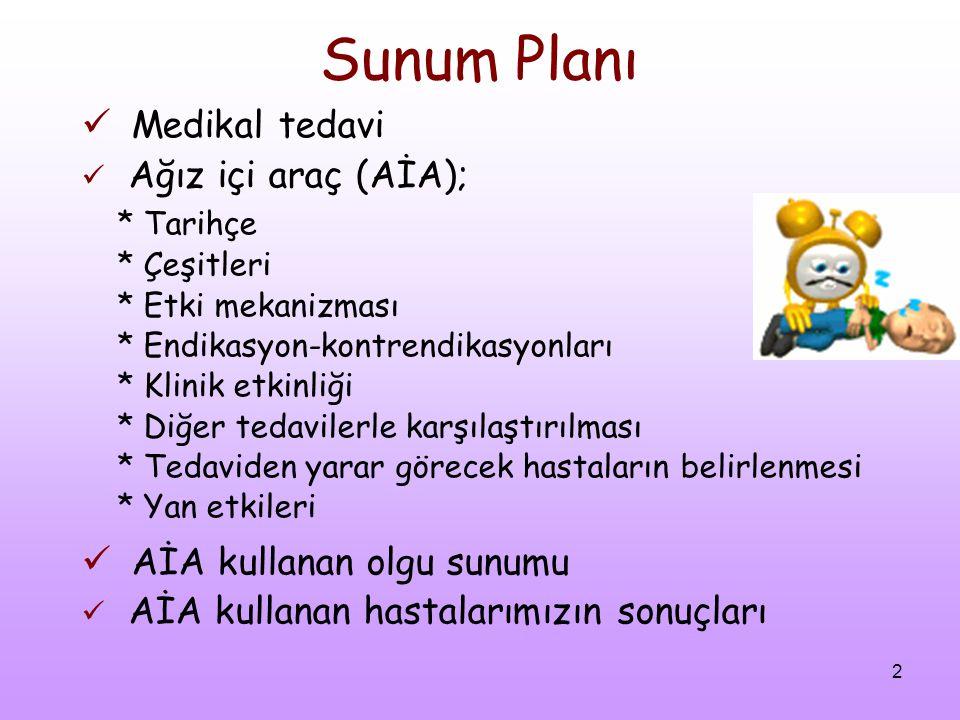 Sunum Planı Medikal tedavi AİA kullanan olgu sunumu