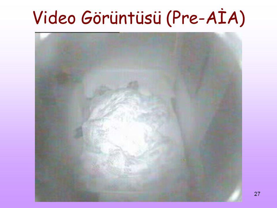 Video Görüntüsü (Pre-AİA)