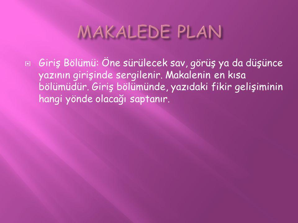 MAKALEDE PLAN