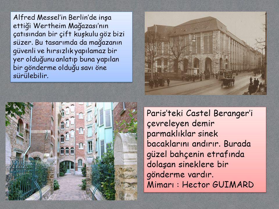 Mimarı : Hector GUIMARD