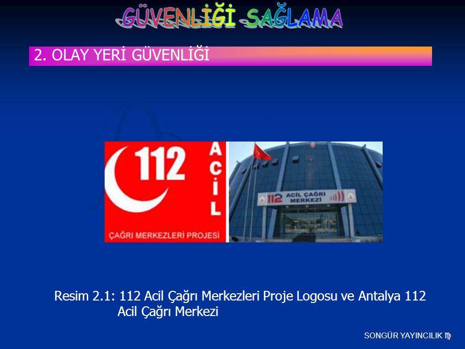 2. OLAY YERİ GÜVENLİĞİ Resim 2.1: 112 Acil Çağrı Merkezleri Proje Logosu ve Antalya 112 Acil Çağrı Merkezi.