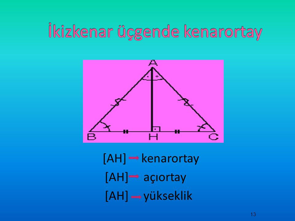 İkizkenar üçgende kenarortay