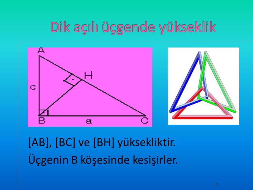 Dik açılı üçgende yükseklik