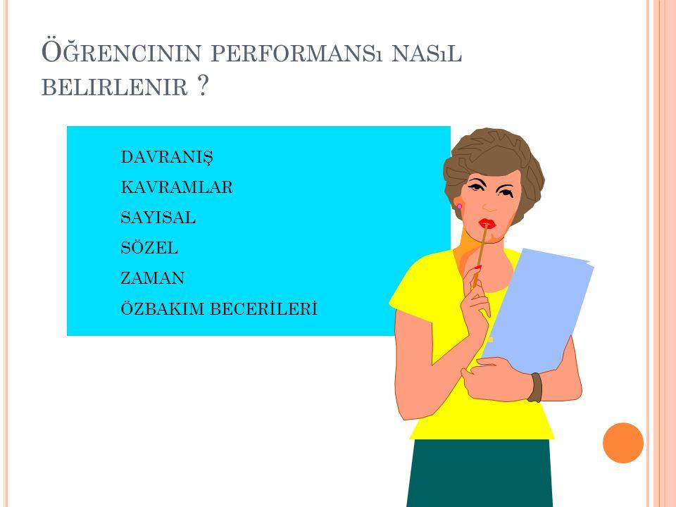 Öğrencinin performansı nasıl belirlenir
