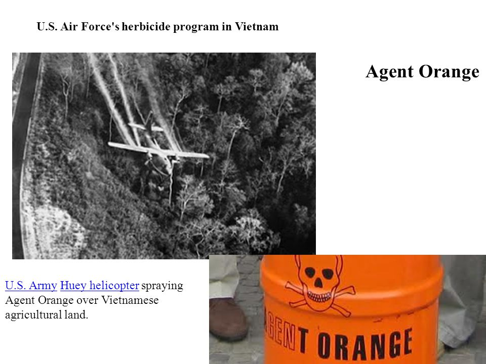 Agent Orange U.S. Air Force s herbicide program in Vietnam