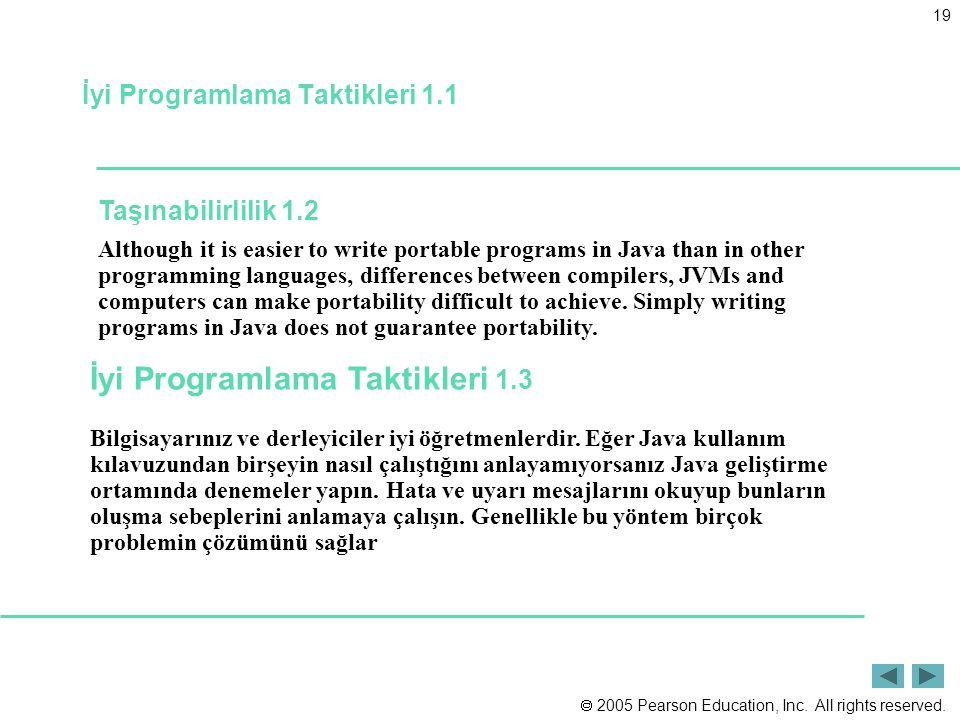 İyi Programlama Taktikleri 1.1