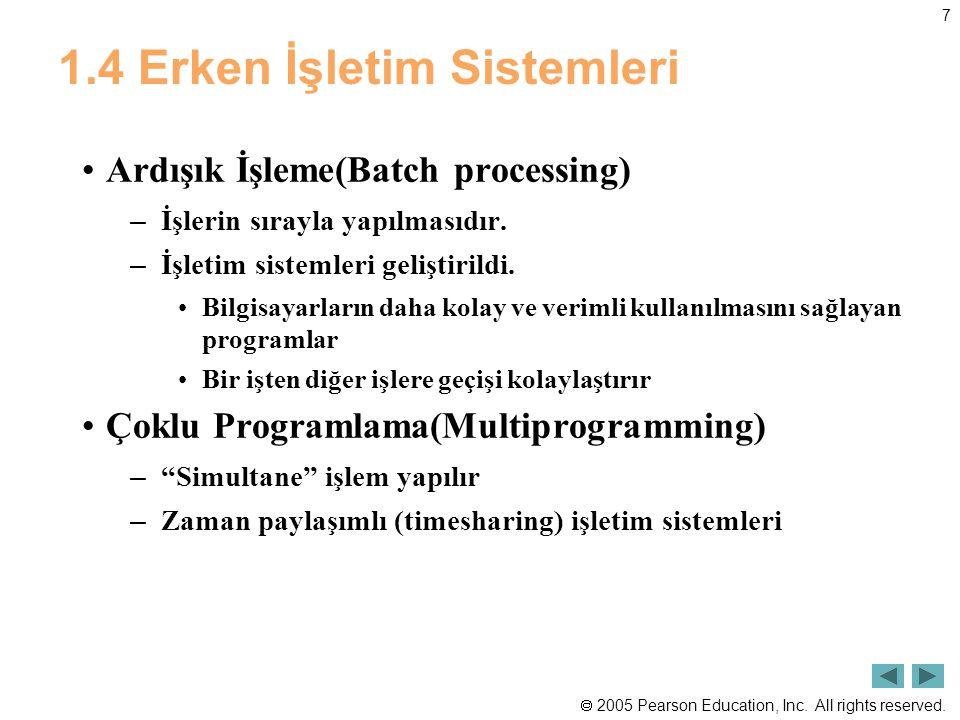 1.4 Erken İşletim Sistemleri