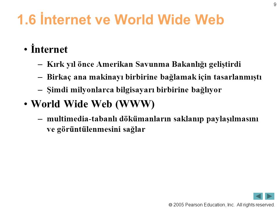 1.6 İnternet ve World Wide Web
