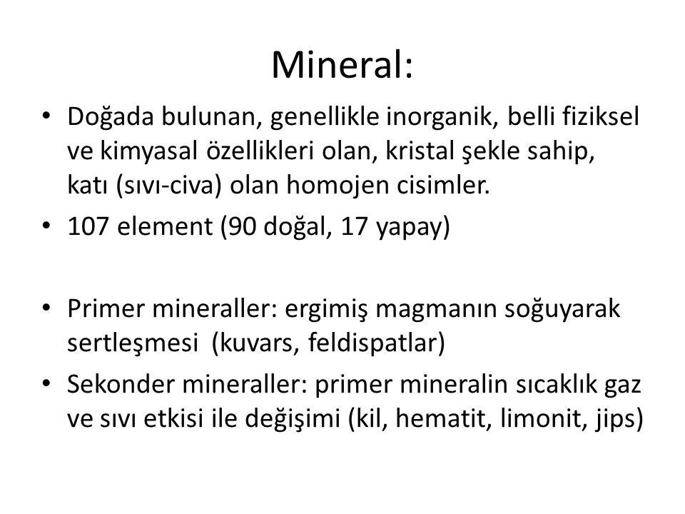 Mineral: