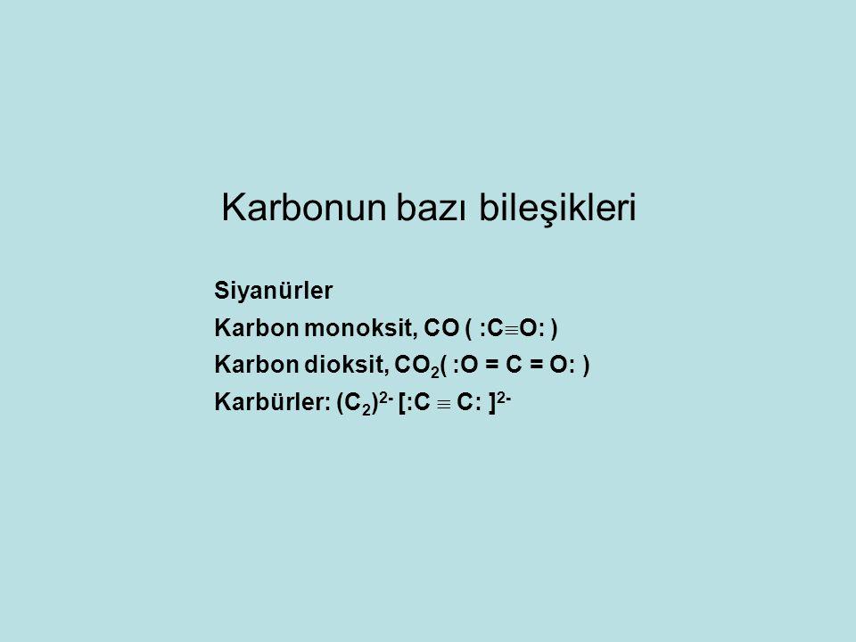 Karbonun bazı bileşikleri