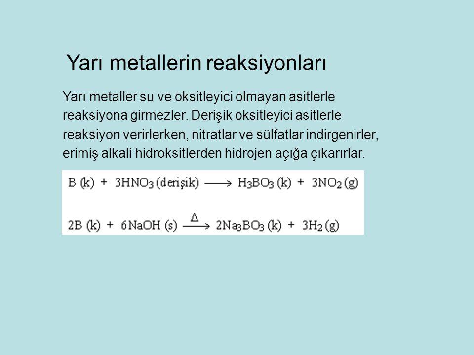 Yarı metallerin reaksiyonları