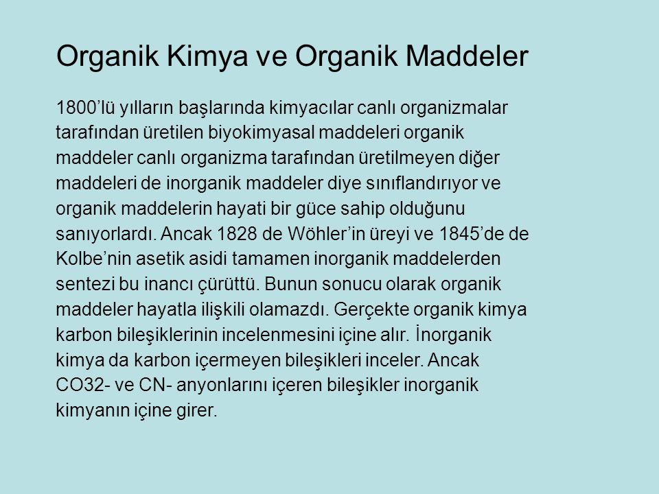 Organik Kimya ve Organik Maddeler