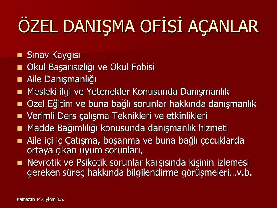 ÖZEL DANIŞMA OFİSİ AÇANLAR