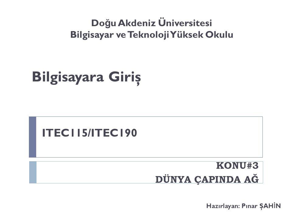 Doğu Akdeniz Üniversitesi Bilgisayar ve Teknoloji Yüksek Okulu