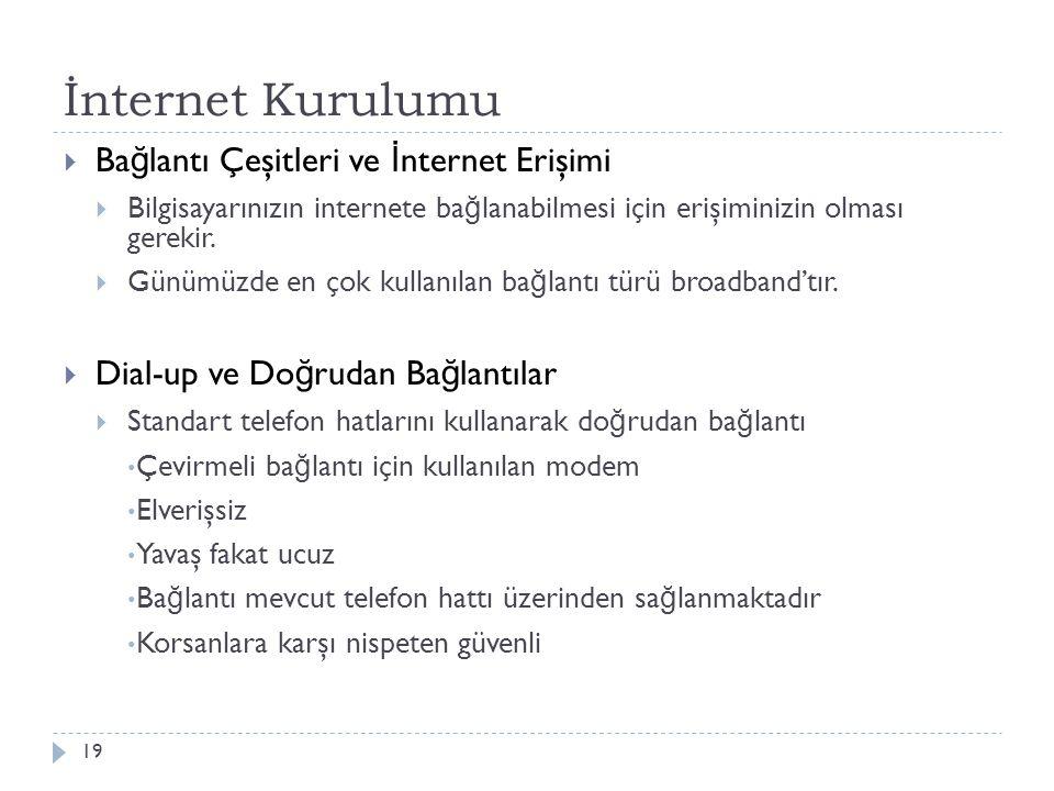 İnternet Kurulumu Bağlantı Çeşitleri ve İnternet Erişimi