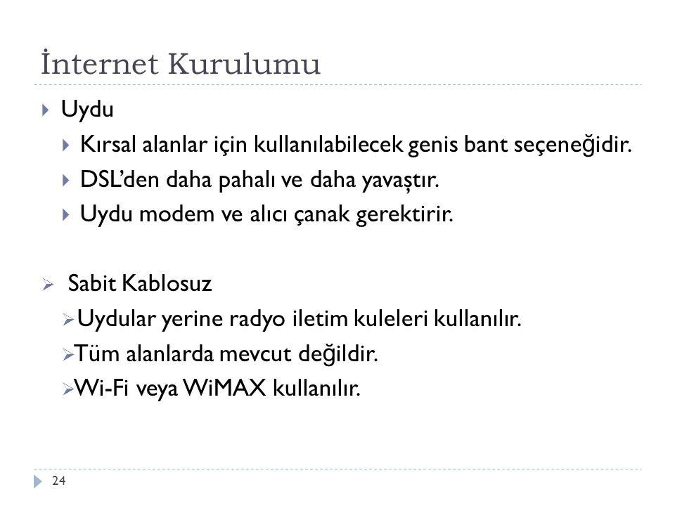 İnternet Kurulumu Uydu