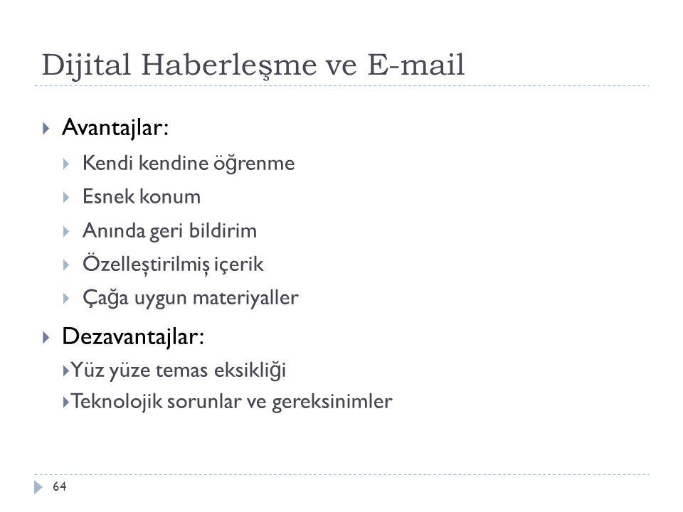 Dijital Haberleşme ve E-mail