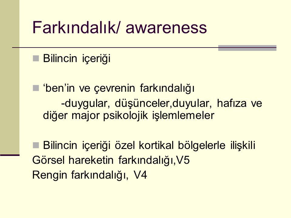 Farkındalık/ awareness