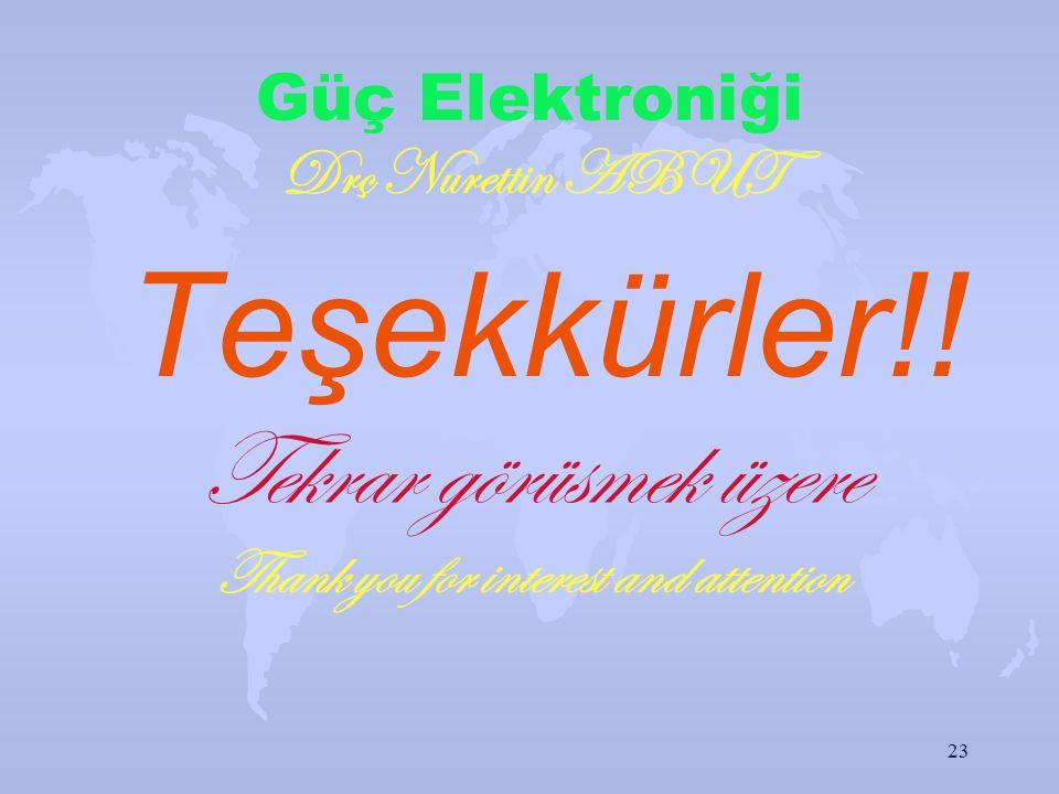 Güç Elektroniği Drç Nurettin ABUT