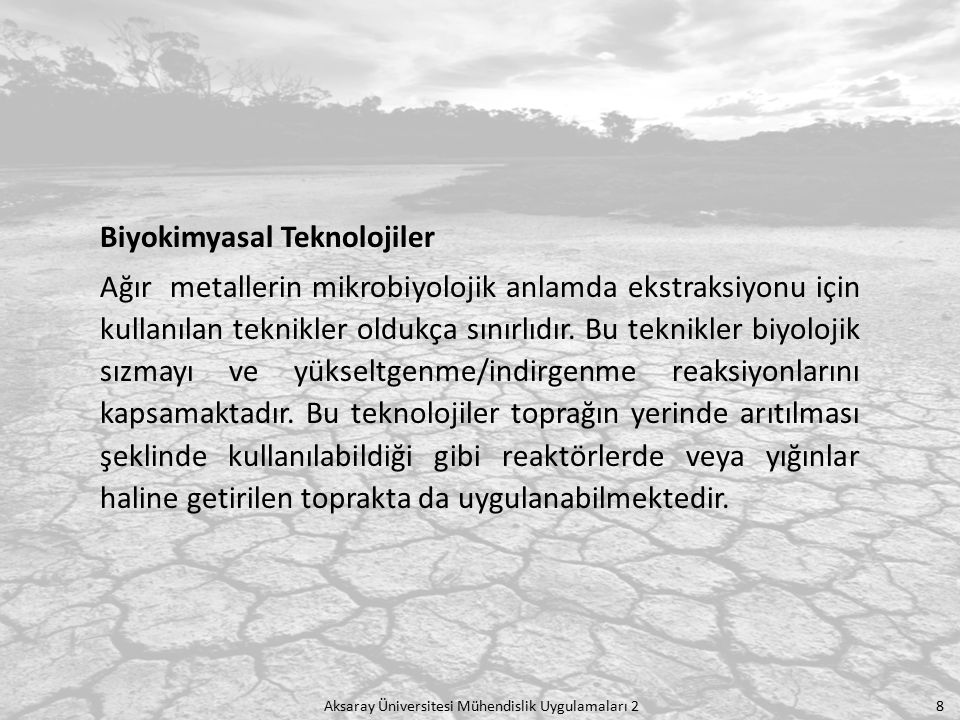 Biyokimyasal Teknolojiler