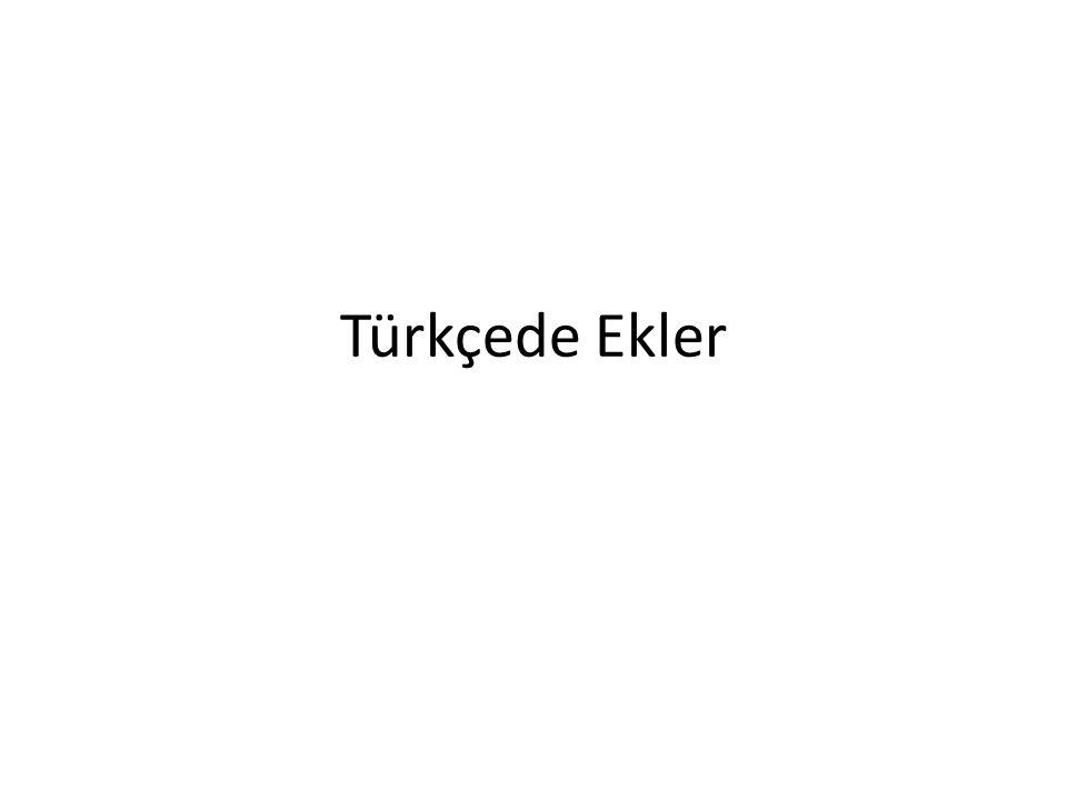 Türkçede Ekler