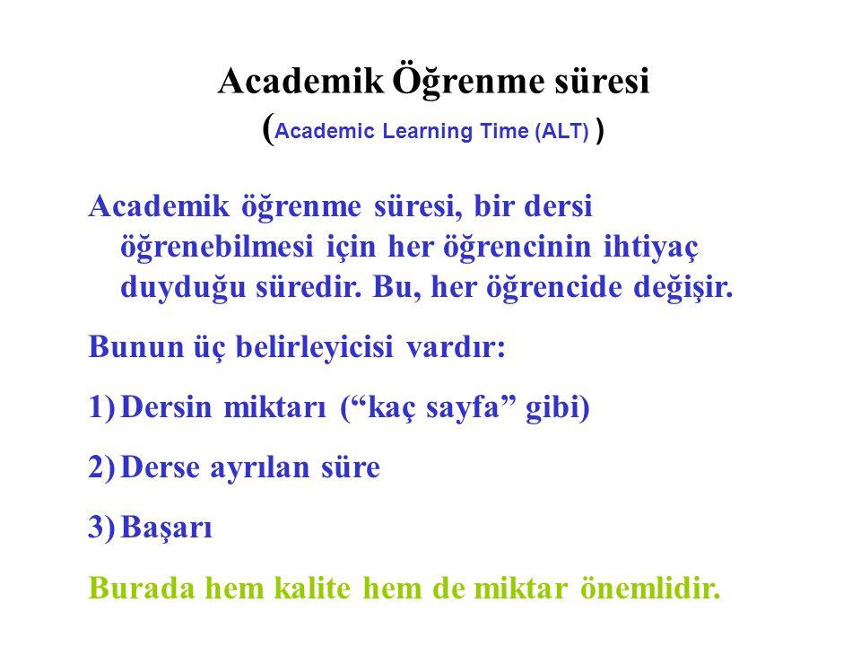 Academik Öğrenme süresi (Academic Learning Time (ALT) )