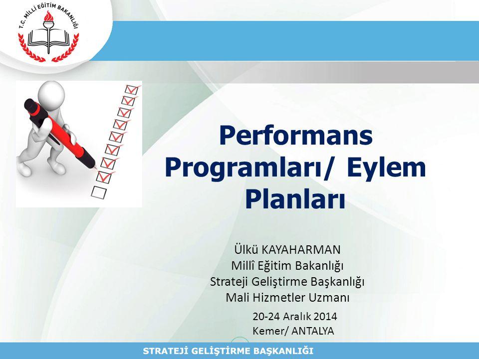 Performans Programları/ Eylem Planları