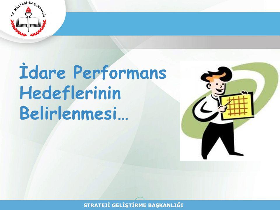 İdare Performans Hedeflerinin Belirlenmesi…
