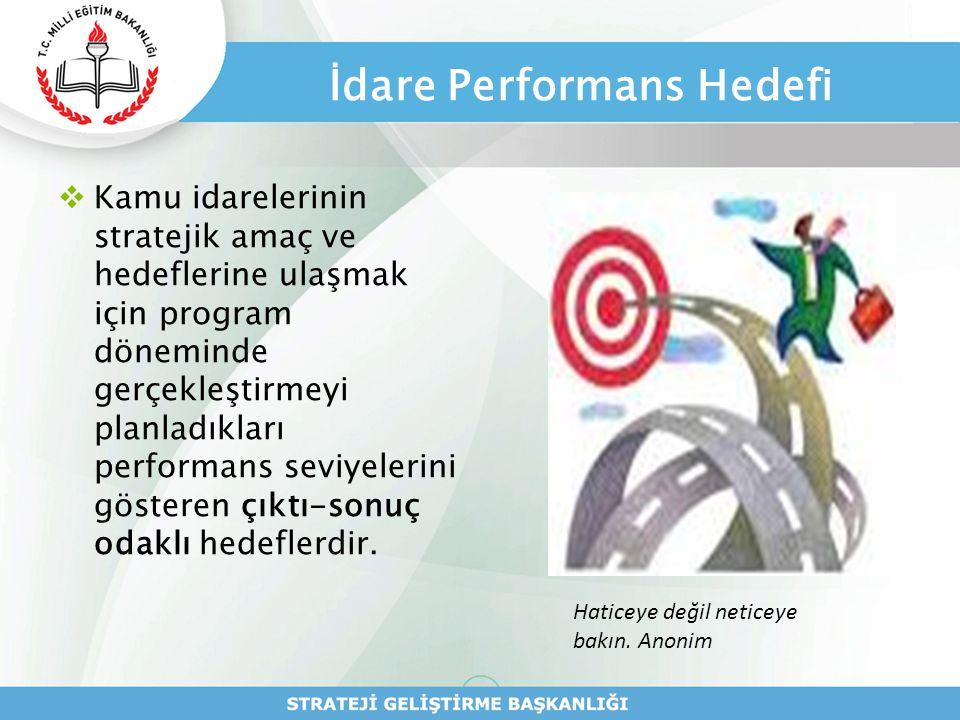İdare Performans Hedefi