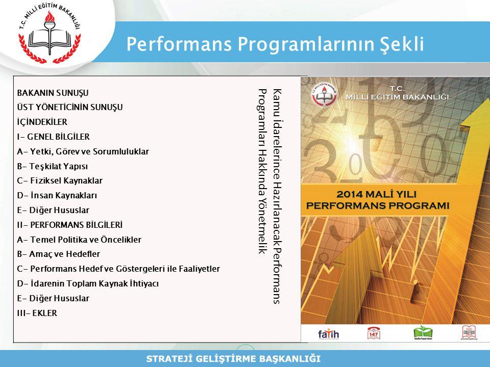 Performans Programlarının Şekli