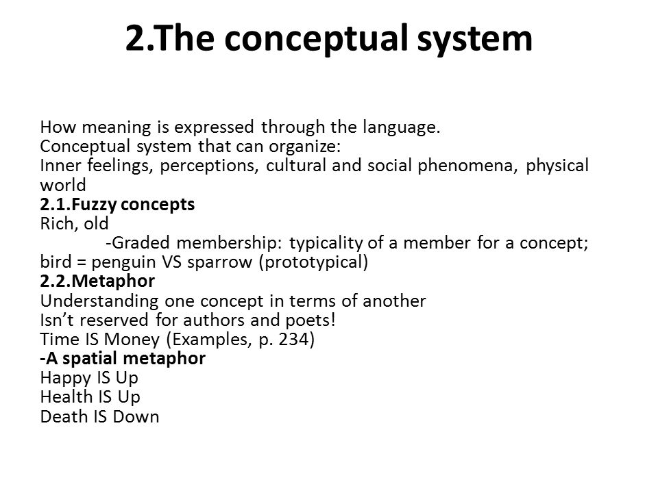 2.The conceptual system