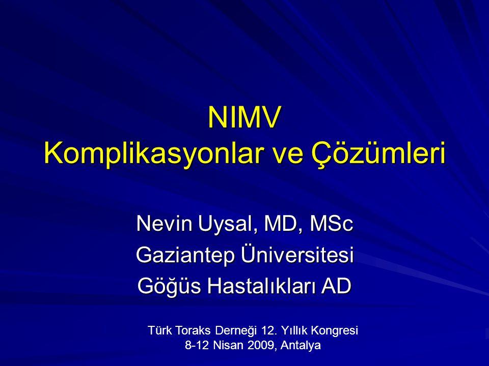 NIMV Komplikasyonlar ve Çözümleri