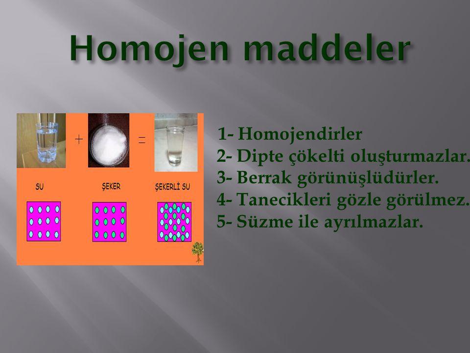 Homojen maddeler
