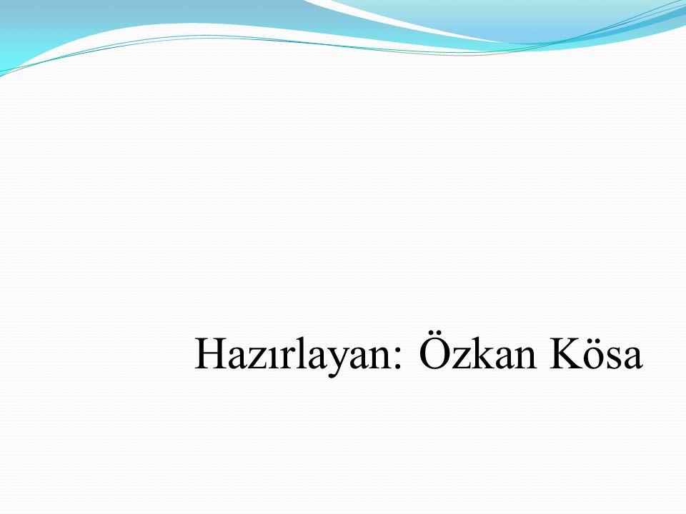 Hazırlayan: Özkan Kösa