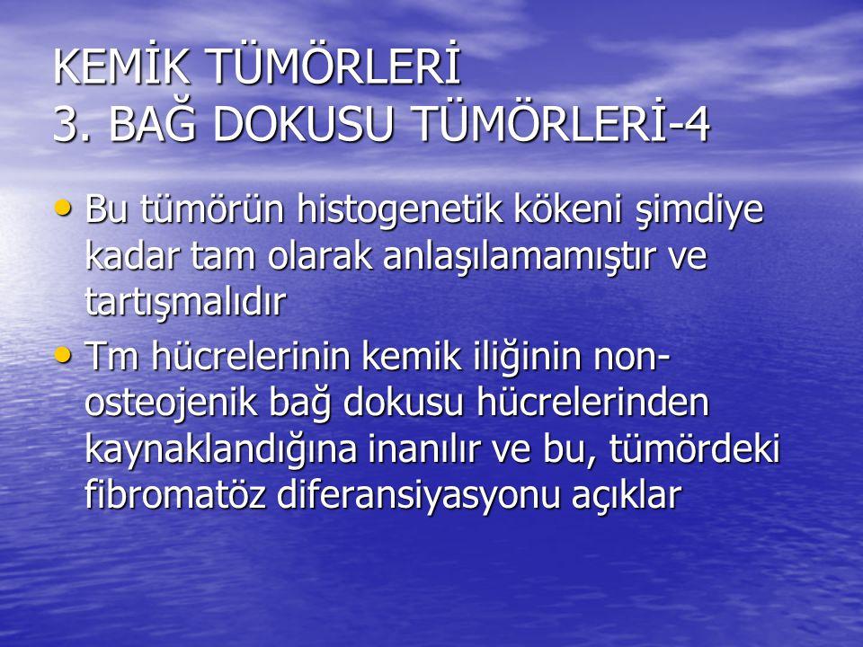 KEMİK TÜMÖRLERİ 3. BAĞ DOKUSU TÜMÖRLERİ-4