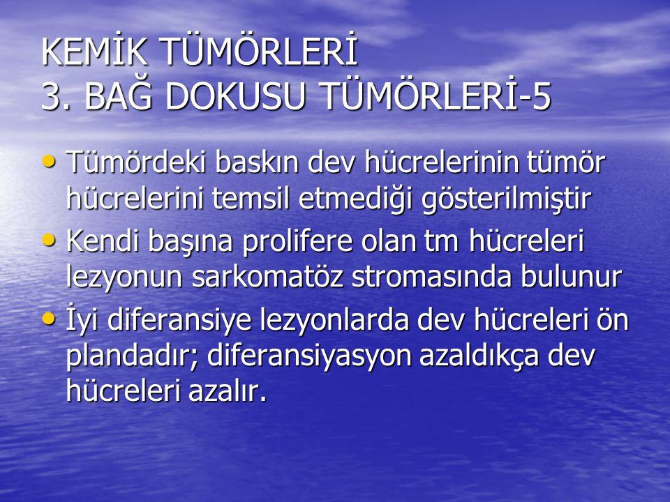 KEMİK TÜMÖRLERİ 3. BAĞ DOKUSU TÜMÖRLERİ-5
