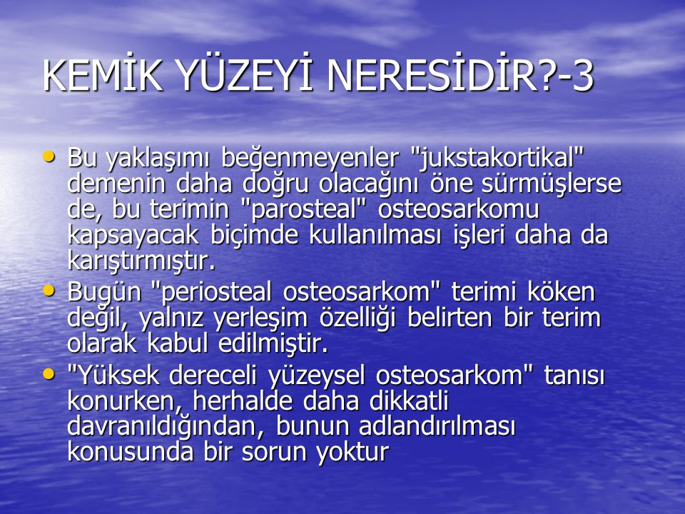 KEMİK YÜZEYİ NERESİDİR -3