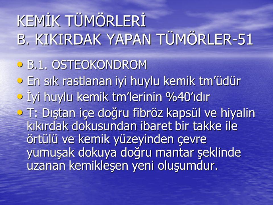 KEMİK TÜMÖRLERİ B. KIKIRDAK YAPAN TÜMÖRLER-51