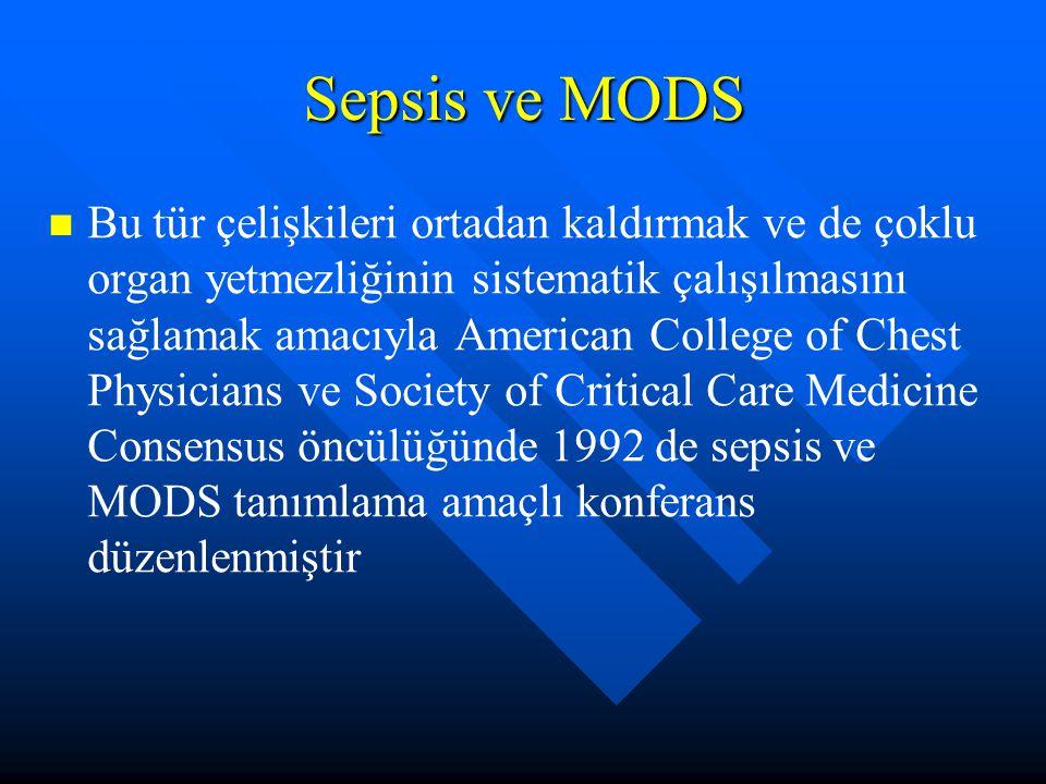 Sepsis ve MODS
