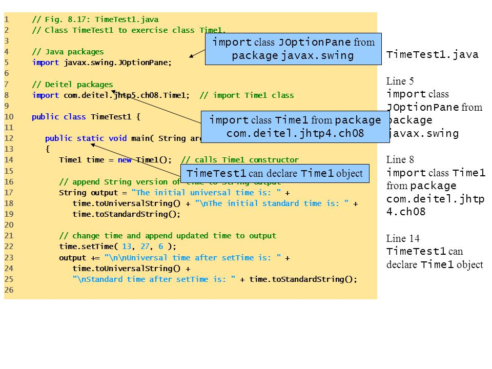 import class JOptionPane from package javax.swing