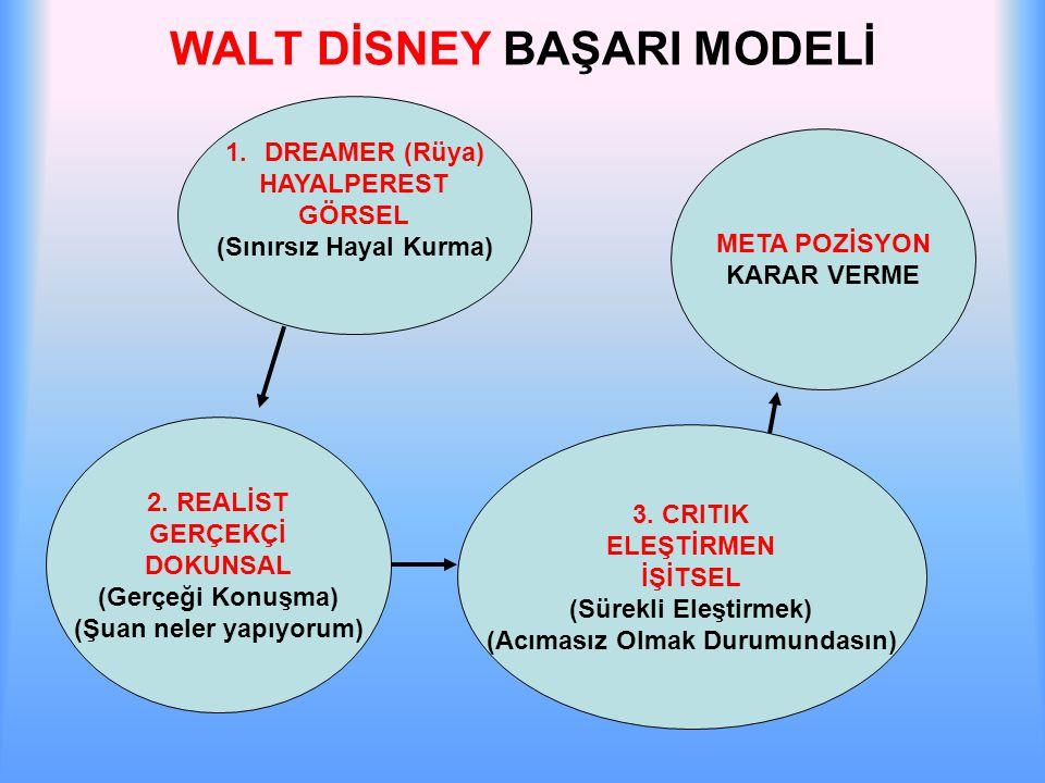 WALT DİSNEY BAŞARI MODELİ