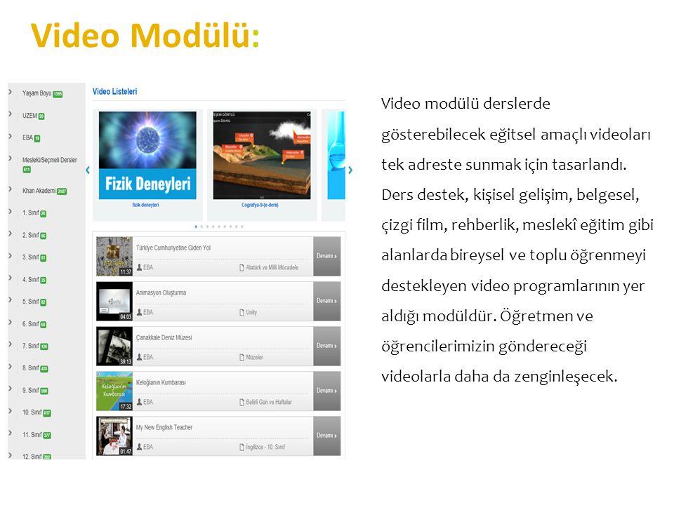 Video Modülü:
