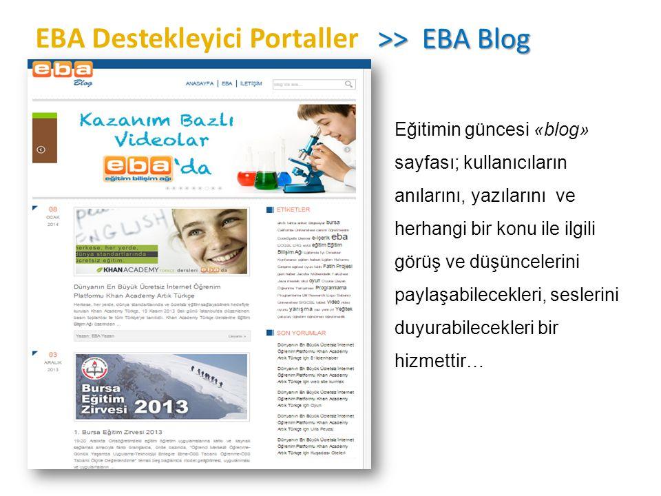 EBA Destekleyici Portaller >> EBA Blog
