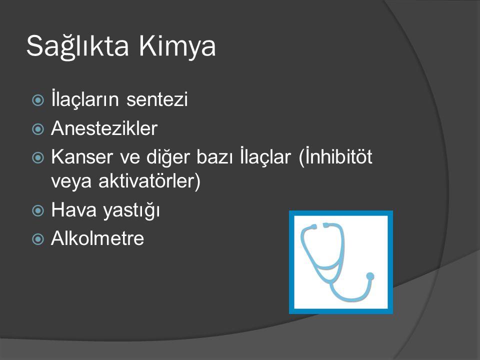 Sağlıkta Kimya İlaçların sentezi Anestezikler